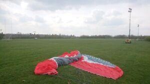 Paraglider-Gin-Sprint-L-EN-B-LTF-DHV-1-2-105-130-kg-Grey-White-Red-USED