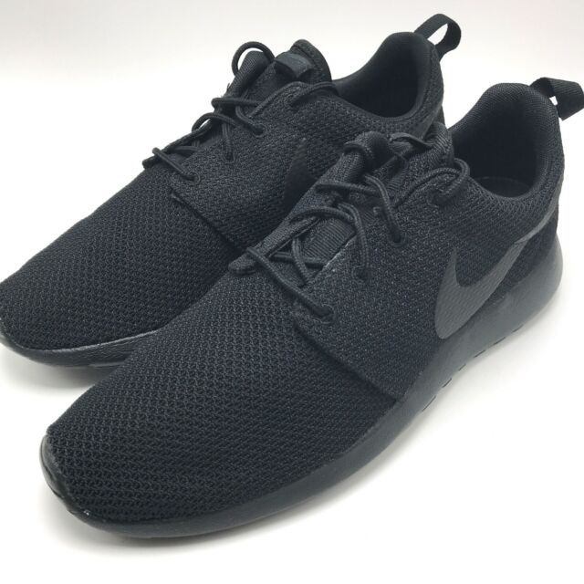 9a077be08b5 Nike Roshe One Sz 9 Black Blackout Triple Rosherun Run Premium
