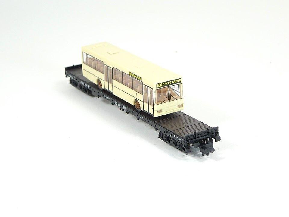 Minitrix 15862, carro merci con citybus, DB, Nuovo, Confezione Originale