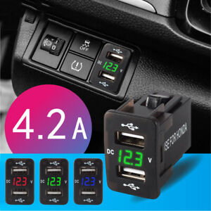 4-2A-Dual-USB-Socket-Charger-Power-Adapter-Waterproof-LED-12V-24V-For-Car-Motor