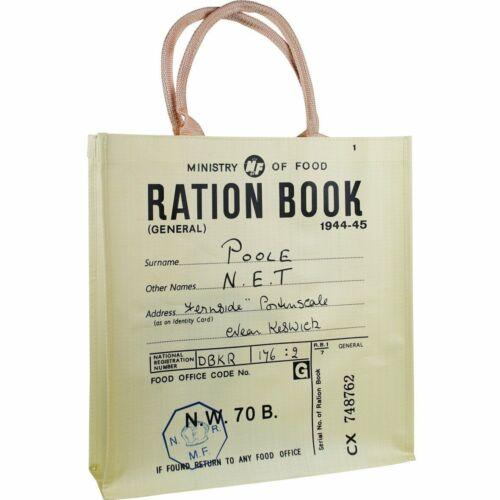 VINTAGE RETRO STYLE WAR RATION BOOK REUSUABLE SHOPPER SHOPPING BAG
