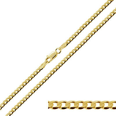 9ct Gold Plated on Solid Sterling Silver 1.3mm Rope Chain 16-24 inch Necklace