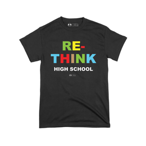 Hebru Brantley Re-Think High School T-Shirt Avail in White Or Black All Sizes