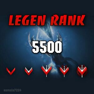 Legend Rank- 0-5500 Glory Points, Xbox -Ps4