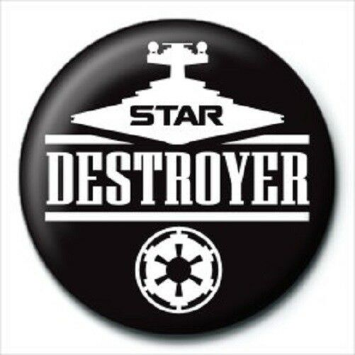 STAR WARS star destroyer - BUTTON BADGE official licensed merchandise SW28