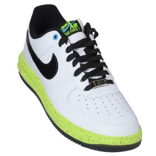 Nike Men's Lunar Force 1 Basketball Shoes White/Wolf Grey/Green