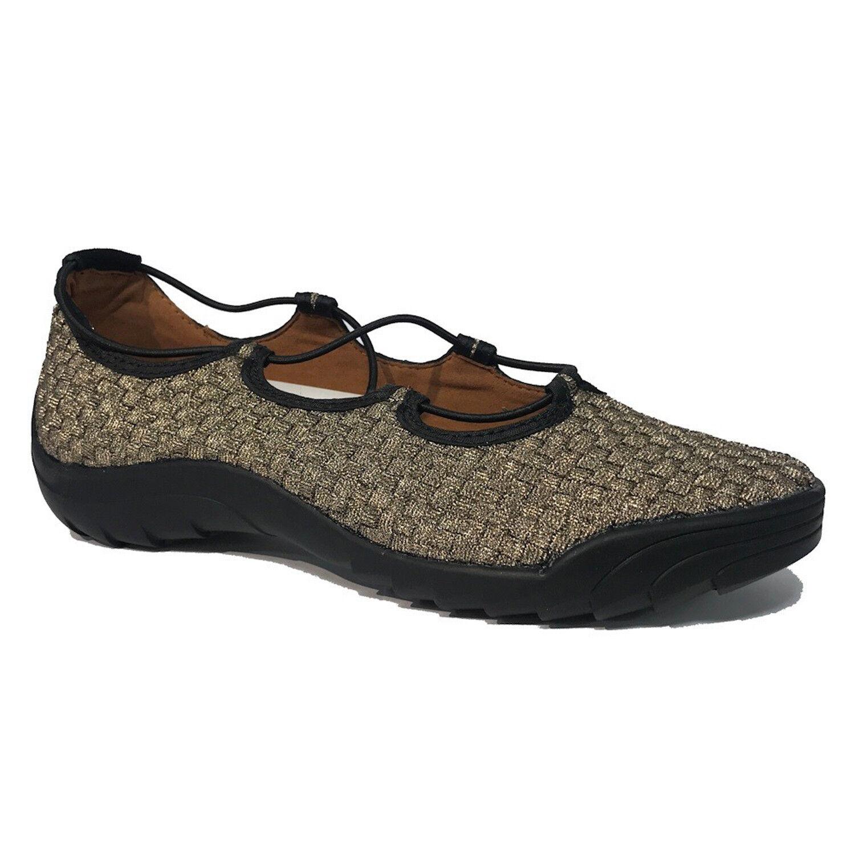 BERNIE MEV Woven Rigged Connect Donna Woven MEV Textile Slip On Scarpe da Ginnastica Bronze marrone 3b6768