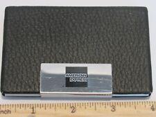 Black Pu Leather Pocket Metal Business Credit Card Holder American Express Logo