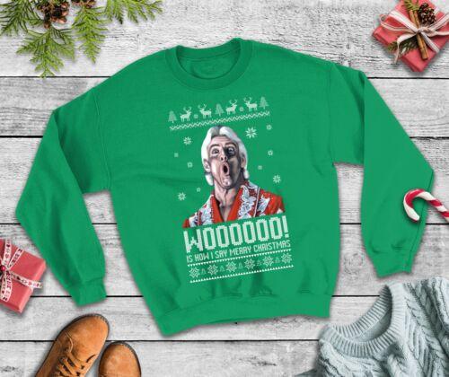 Weihnachts Pullover Ric Flair Woo Wrestling Lustig Sweatshirt Weihnachtsparty