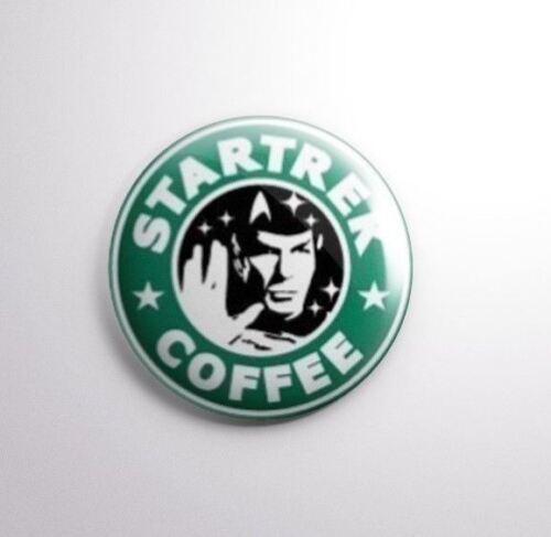 STAR TREK COFFEE Pinbacks Badge Button 25mm 1/'/'