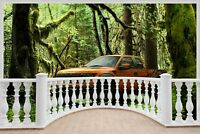 Huge 3D Balcony Ford Raptor Forest Wall Stickers Wallpaper Mural 748