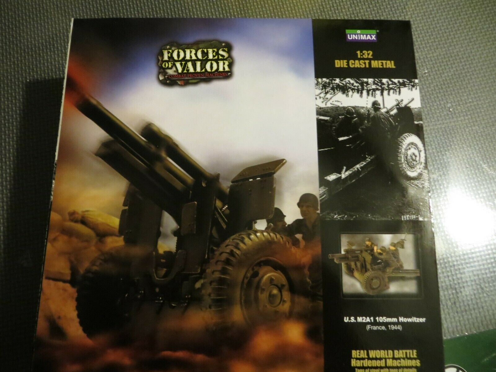 Forces OF VALOR US M2A1 105MM OBICE FRANCIA 1944 132 DIE CAST NUOVO IN SCATOLA