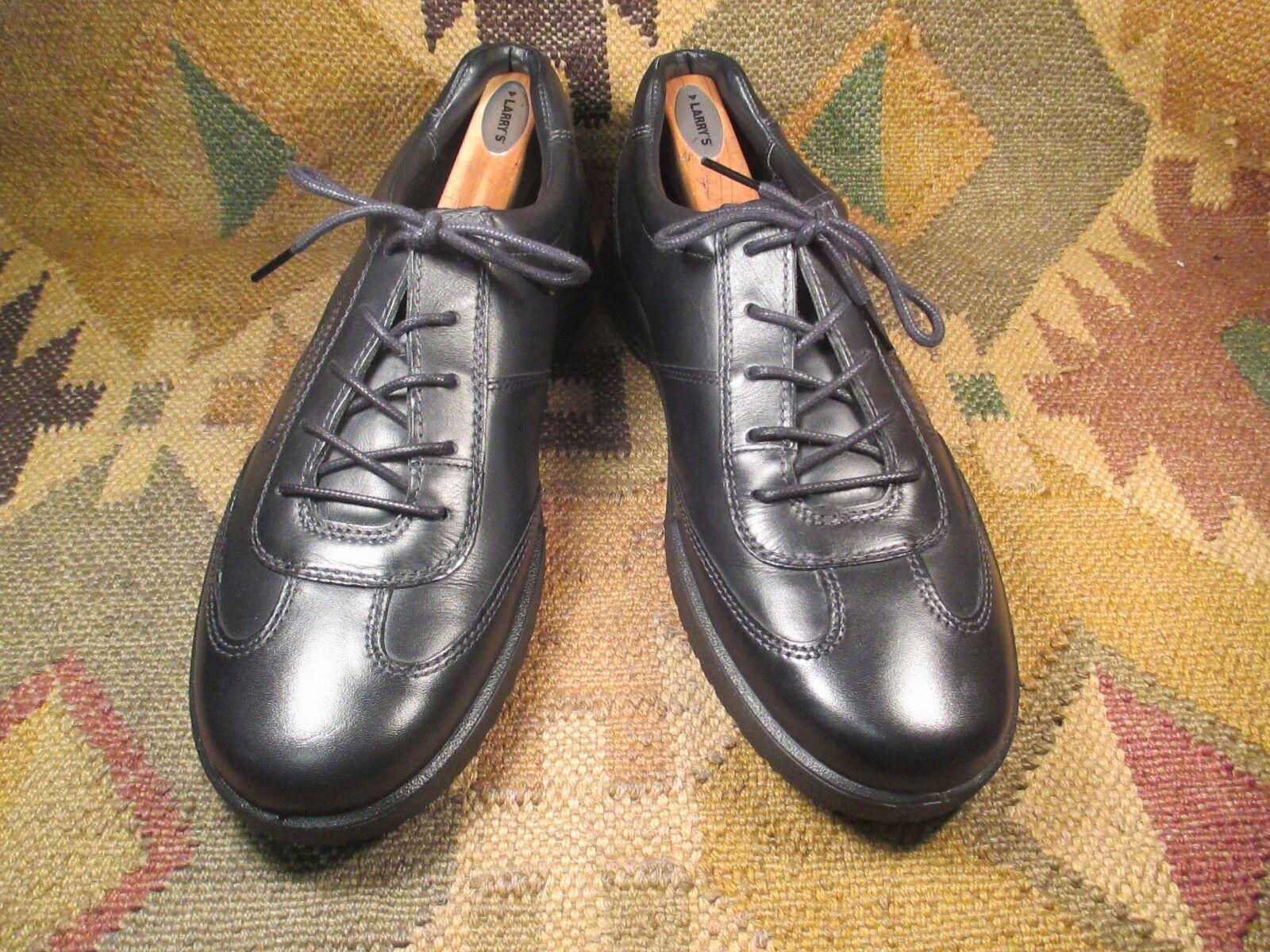 ECCO noir en Cuir Premium Fashion Turnchaussures Taille USA -13 D, milieu EU-47 excellent état utilisé