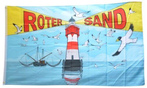 Drapeau phare rouge sable Drapeau Hissflagge 90x150cm