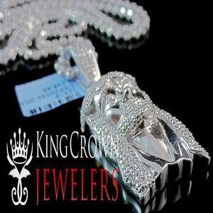 White-Gold-Finish-Real-Diamond-Micro-Mini-Jesus-Face-Piece-Pendant-Charm-1-85-039-039