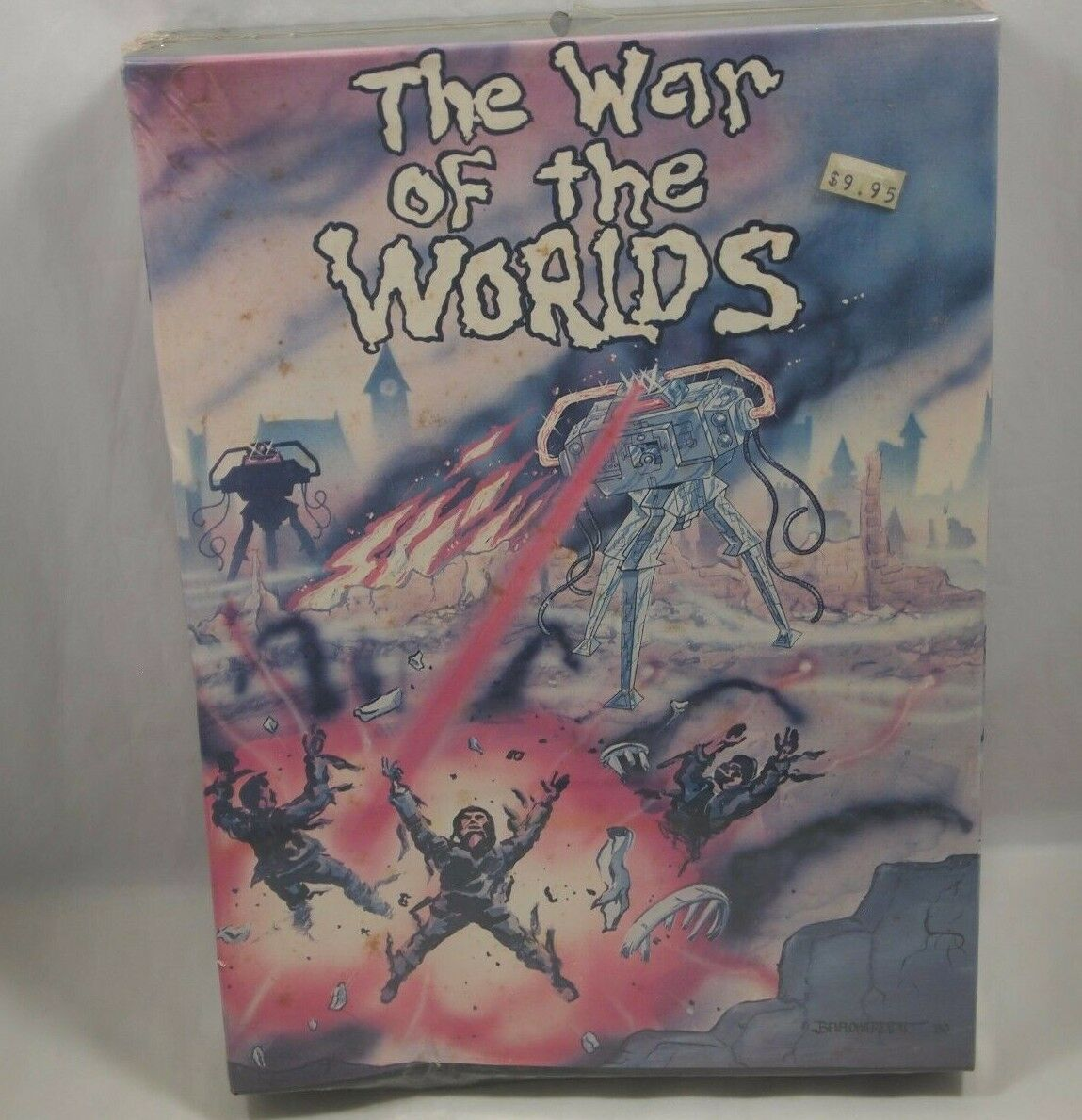 THE WAR OF THE WORLDS Rare SEALED 1980 Sci-Fi BOARD GAME Unpunched