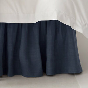 solid navy blue or king bedskirt 100 cotton