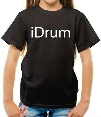 """Baby Drumming T-Shirt /""""Born with Sticks in Hands/"""" Drums Drummer Rock Music"""