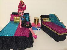 Monster High furniture Bedroom set:Gigi Grant:Bed,sofa,lamp,wood Box