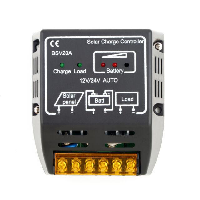 1PC 20A 12V/24V Solar Panel Charge Controller Battery Regulator Safe Protection