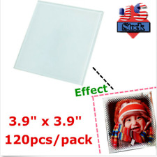 Us Stock 120pcs 39 X 39 Square Sublimation Heat Press Blank Glass Coaster