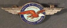 Vintage Pratt Whitney Aircraft Engine Pin WW2 6 Months Attendance Award Sterling