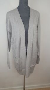 Nueva-tom-tailor-chaqueta-de-punto-senora-talla-L-Basic-Long-Cardigan-gris-nuevo-en-el-embalaje