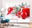 3D Blockout Drapes Fabric Flowers XMAS Snow Photo Printing Window Curtain Mural