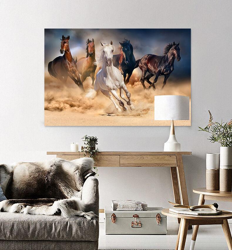 3D Laufende Pferde 3566 Fototapeten Wandbild BildTapete Familie AJSTORE DE