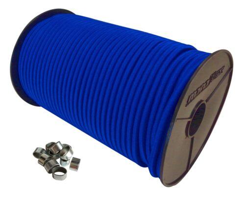 Expanderseil Set Gummiseil Gummischnur Planenseil in Blau mit Würgeklemmen