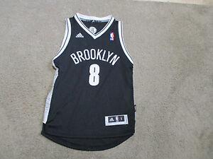 827f814bef8d Adidas Deron Williams Brooklyn Nets Youth Small Black Basketball NBA ...