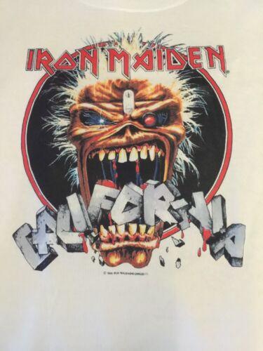 IRON MAIDEN VINTAGE R.P ( 1988 CALIFORNIA TOUR ) X-L , RARE !! ONLY 1