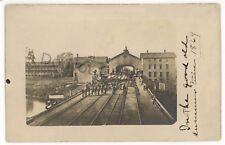 RPPC Atlantic & Great Western Railroad Station MEADVILLE PA Real Photo Postcard