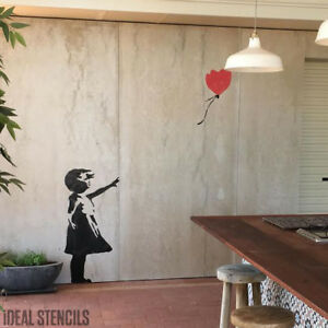 Banksy Balloon Stencil Huge Size