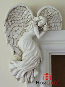 Image Is Loading Door Frame Angel Wings Wall Sculpture Ornament Garden