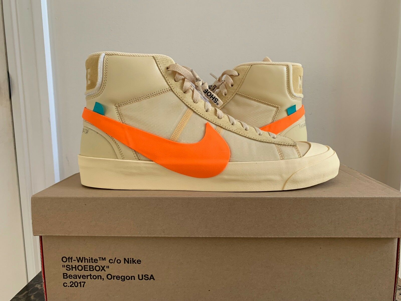 "DS BRAND NEW OFF WHITE X NIKE BLAZER VIRGIL ""THE 10"" ALL HALLOW'S EVE AA3832-700"