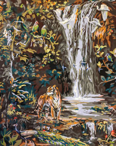 Details About Tiger In The Jungle Wall Painting Handmade Acrylic Oil Painting