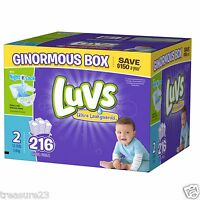 Luvs Ultra Leakguards Diapers, Size 2 216 Count 12-18lbs