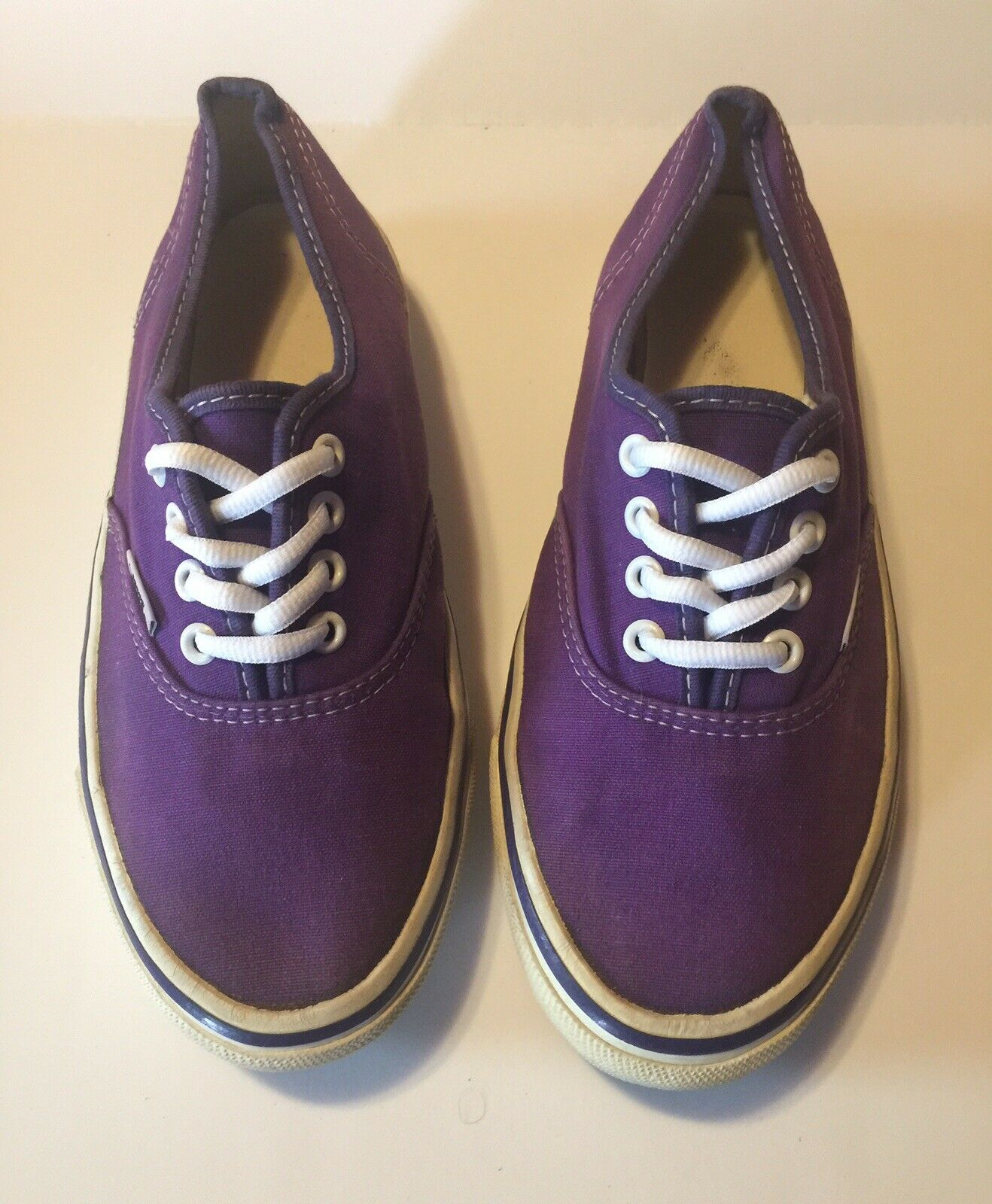 Vans Off The Wall Purple Low Top Sneaker Women's Sz 8.5 Made In The USA Vintage