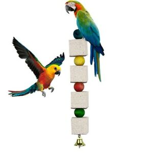 Pet-Bird-Stone-Mouth-Grinding-Molar-Parrot-Parakeet-Budgie-Cage-Chew-Toy-New