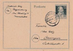 Postkarte-Jahr-1947-verschickt-von-Regensburg-nach-Ohringen