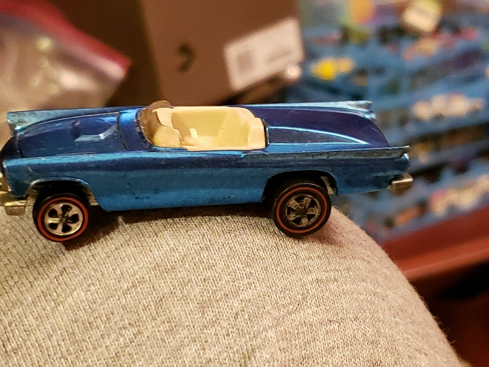 autorización 1968 1968 1968 Mattel Hot Wheels rojoline Clásico 57 Pájaro Azul W Base blancoo Interior EE. UU.  barato y de moda