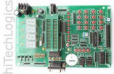 8051 Development Board RS232 input LCD Matrix Keypad 7 SEG LED Display / DS1307