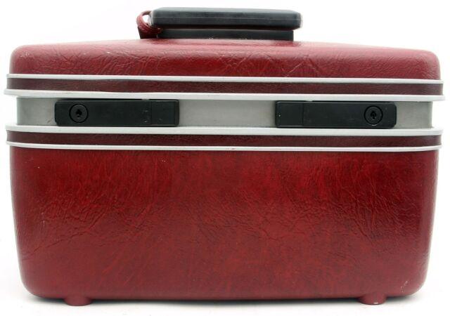 SAMSONITE Contour Luggage Train Accessory Case Burgundy Makeup Vintage travel