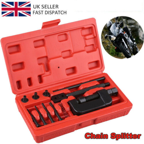 13x Chain Breaker Cutter Link Riveter for Motorcycle with Case Labor-saving UK