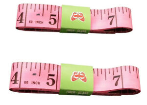 48 x 1.5M 60 Soft Plastic Ruler Tailor Cloth Body Measure Measuring Flat Tape PINK