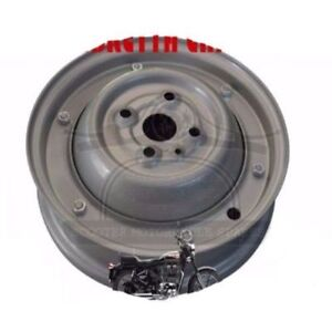 Wheel-Rim-Vespa-Complete-10-034-50-90cc-2-3-4-X-9-Full-Grey-1965-70-AUD