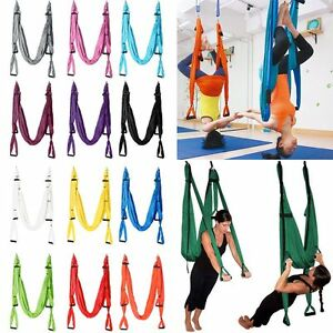 image is loading aerial anti gravity yoga hammock swing trapeze fitness  aerial anti gravity yoga hammock swing trapeze fitness inversion      rh   ebay ie