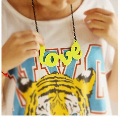UK seller cool rap LOVE necklace chain pendant *Free studs for any 2 jewelleries