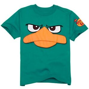 Nickelodeon Boys Youth Phineas /& Ferb Agent P Perry The Platypus Shirt New XL